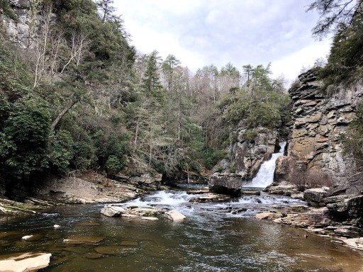 The end of the Linville Falls Plunge Basin trail